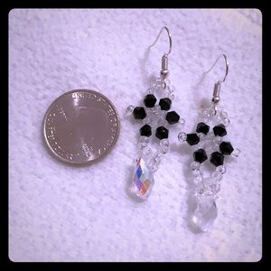 NWT crystal beaded dangle earrings